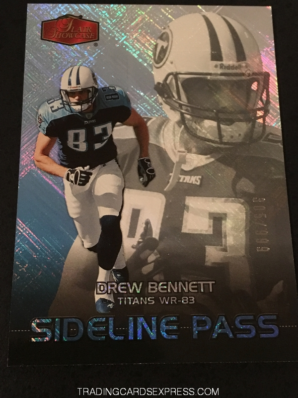 Drew Bennett Titans 2006 Fleer Flair Showcase Sideline Pass 267 305 999 Front