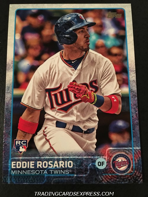 Eddie Rosario Twins 2015 Topps Update Rookie Card US341 Front