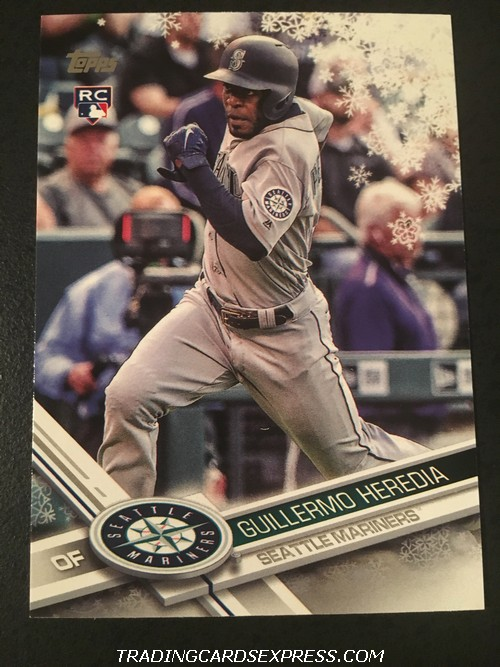 Guillermo Heredia Mariners 2017 Topps Walmart Holiday Rookie Card HMW101 Front