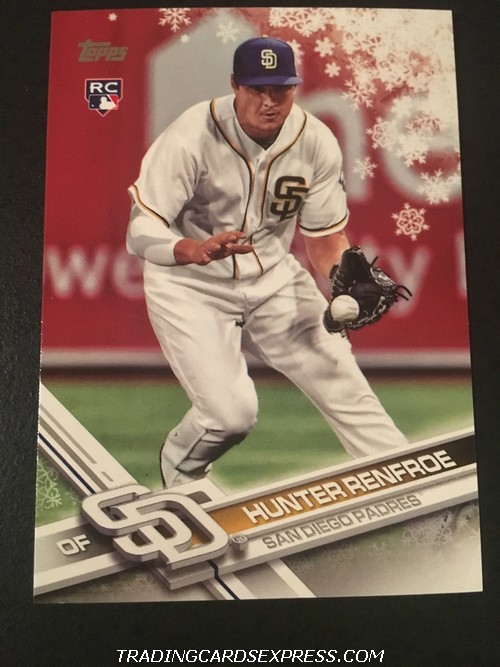 Hunter Renfroe Padres 2017 Topps Walmart Holiday Rookie Card HMW6 Front