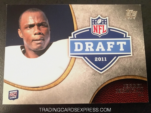Jerrel Jernigan Giants 2011 Topps Rising Rookies NFL Draft Rookie Card DRJJE Front