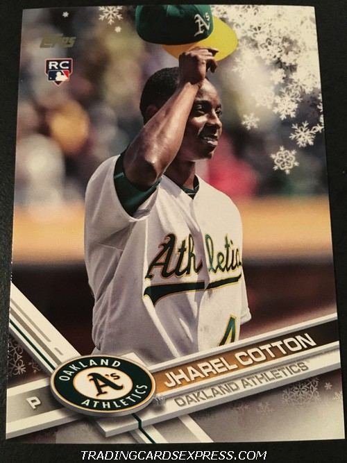 Jharel Cotton Athletics 2017 Topps Walmart Holiday Rookie Card HMW123 Front