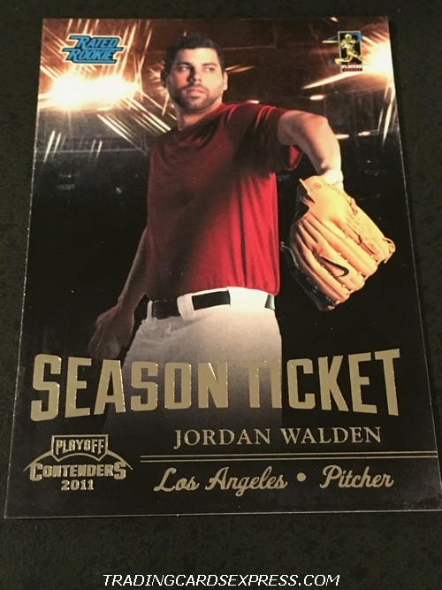 Jordan Walden Angels 2011 Panini Playoff Contenders Season Ticket Rookie Card 8 Front