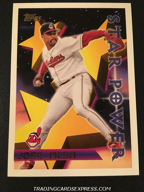 Jose Mesa Indians 1996 Topps Star Power 231 Front