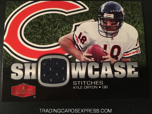 Kyle Orton Bears 2006 Fleer Flair Showcase Showcase Stitches Jersey Card SHSKO Front