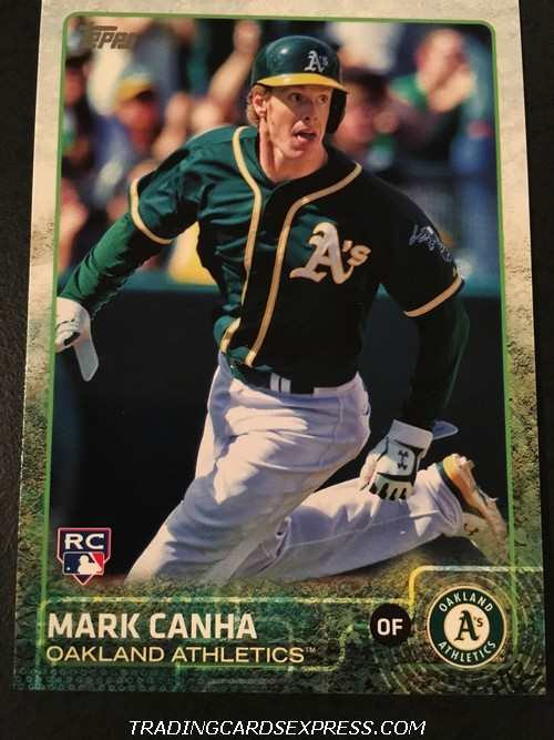 Mark Canha Athletics 2015 Topps Update Rookie Card US49 Front