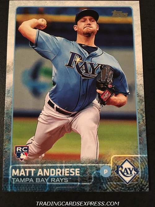 Matt Andriese Rays 2015 Topps Update Rookie Card US34 Front