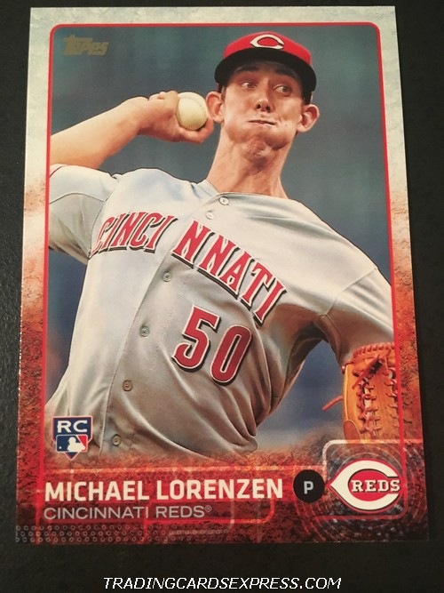 Michael Lorenzen Reds 2015 Topps Rookie Card US38 Front