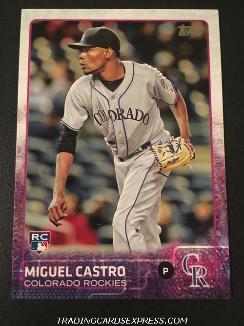 Miguel Castro Rockies 2015 Topps Rookie Card US116 Front