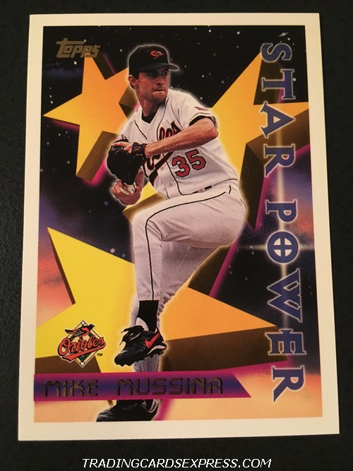 Mike Mussina Orioles 1996 Topps Star Power 228 Front