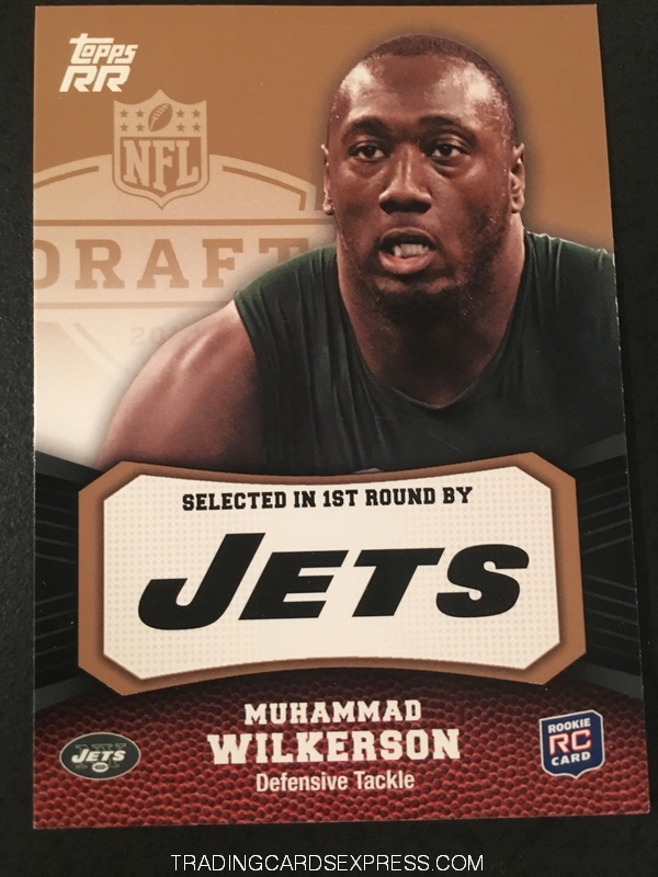 Muhammad Wilkerson Jets 2011 Topps Rising Rookies Gold Rookie Card 199 Front