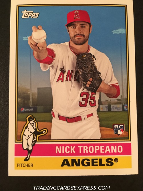 Nick Tropeano Angels 2015 Topps Archives Rookie Card 157 Front