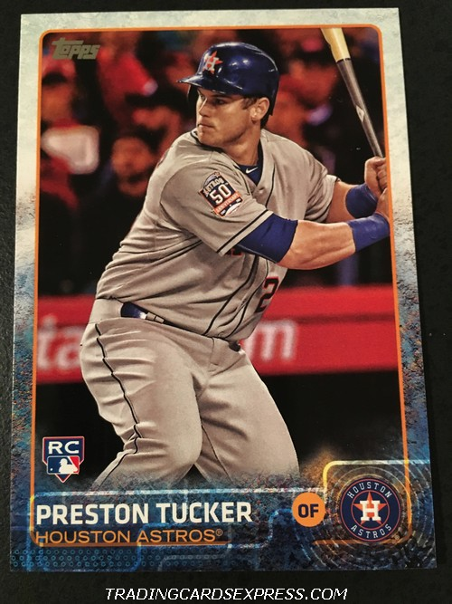 Preston Tucker Astros 2015 Topps Update Rookie Card US124 Front