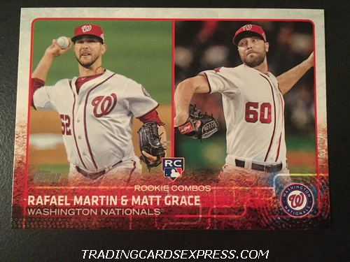 Rafael Martin Nationals Matt Grace Nationals 2015 Topps Rookie Combos Rookie Card US59 Front