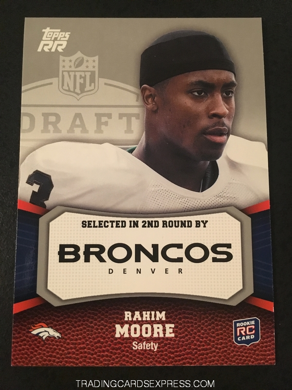 Rahim Moore Broncos 2011 Topps Rising Rookies Rookie Card 166 Front
