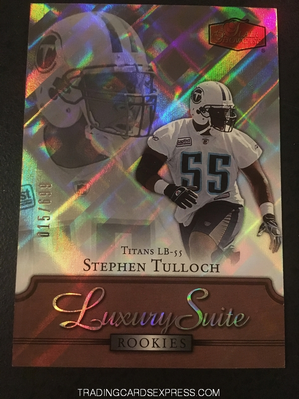 Stephen Tulloch Titans 2006 Fleer Flair Showcase Luxury Suite Rookie Card 139 015 699 Front