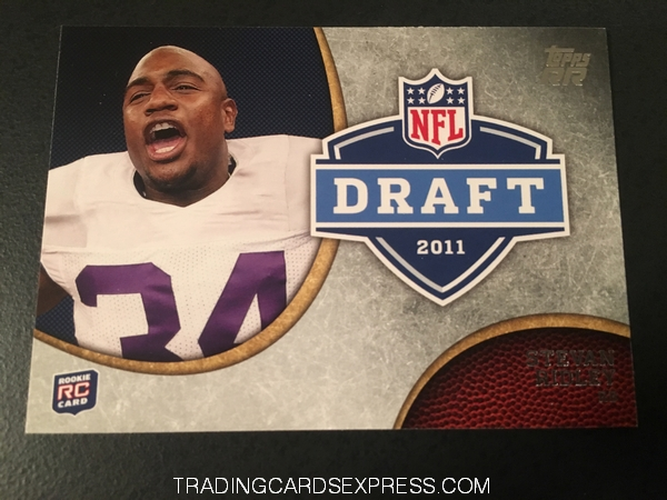 Stevan Ridley Patriots 2011 Topps Rising Rookies NFL Draft Rookie Card DRSR Front
