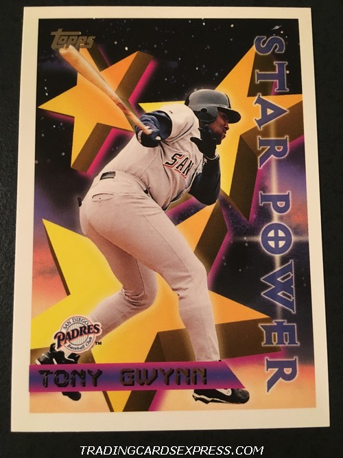 Tony Gwynn Padres 1996 Topps Star Power 1 Front