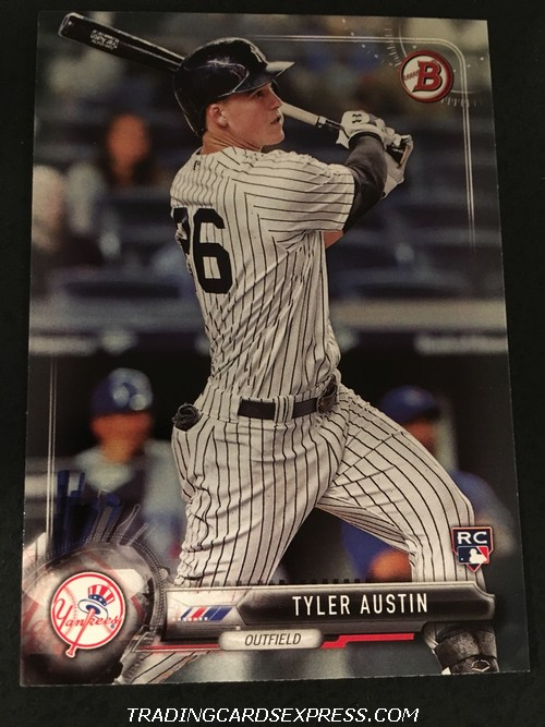Tyler Austin Yankees 2017 Bowman Rookie Card 86 Front