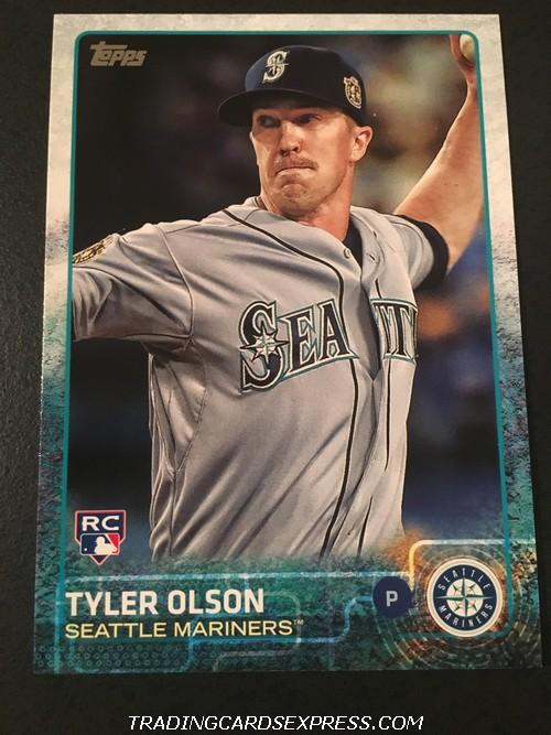 Tyler Olson Mariners 2015 Topps Rookie Card US126 Front