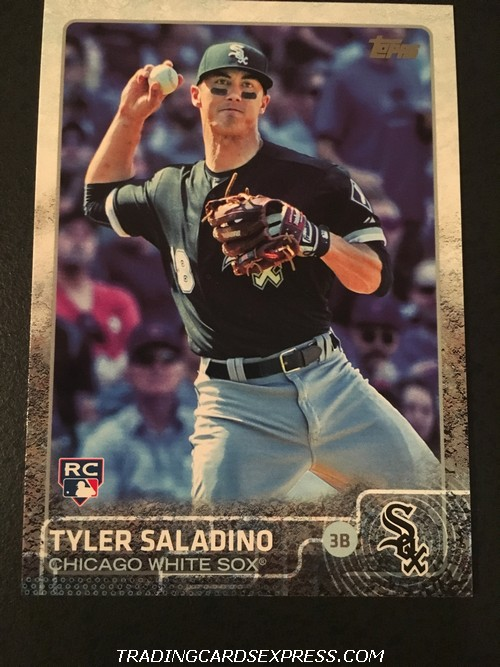 Tyler Saladino White Sox 2015 Topps Rookie Card US73 Front