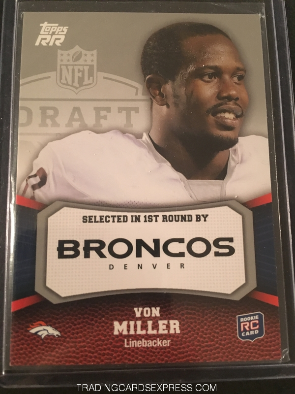 Von Miller Broncos 2011 Topps Rising Rookies Rookie Card 200 Front