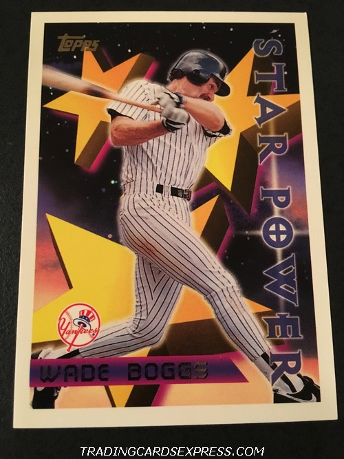 Wade Boggs Yankees 1996 Topps Star Power 225 Front