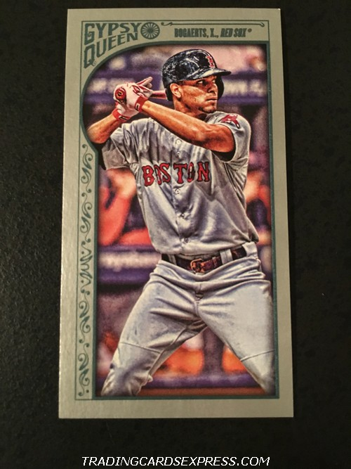 Xander Bogaerts Red Sox 2015 Topps Gypsy Queen Mini Silver 187 168 199 Front