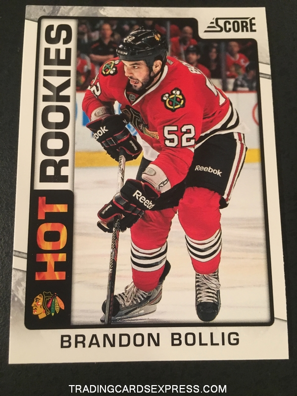 Brandon Bollig Blackhawks 2012 2013 Score Hot Rookies Card 515 Front