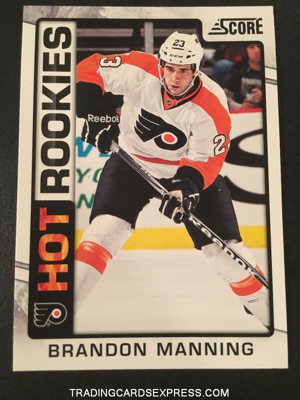 Brandon Manning Flyers 2012 2013 Score Hot Rookies Card 519 Front