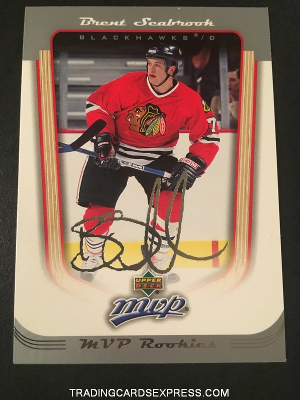 Brent Seabrook Blackhawks 2005 2006 Upper Deck MVP Rookie Card 431 Front