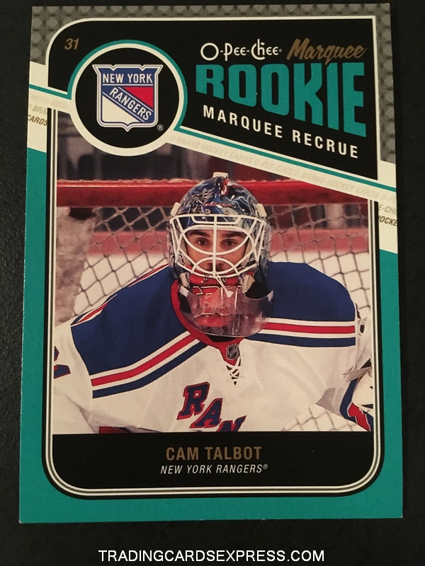 Cam Talbot Rangers 2011 2012 O Pee Chee Marquee Rookie Card 569 Front