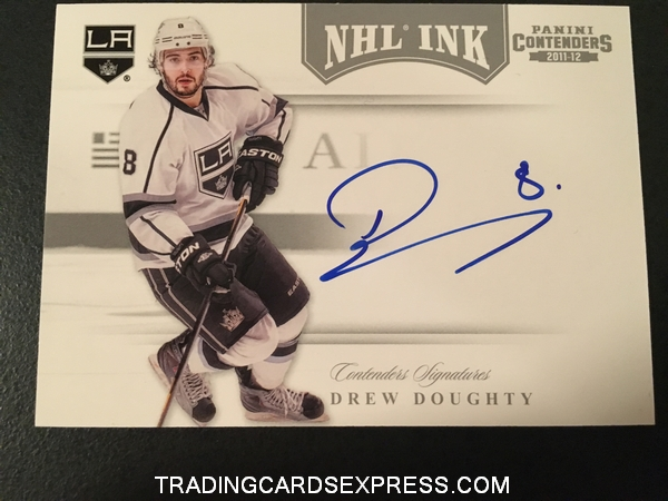 Drew Doughty Kings 2011 2012 Panini Contenders NHL Ink Autograph Card 23 Front