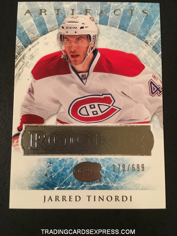 Jarred Tinordi Canadiens 2012 2013 Artifacts Rookie Card RED237 278 699 Front