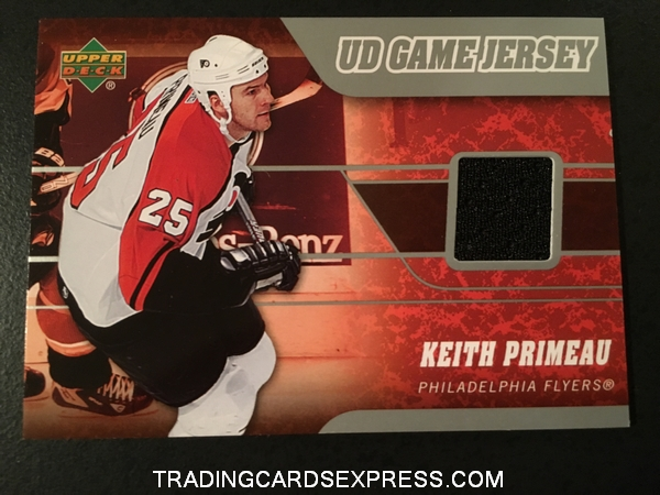 Keith Primeau Flyers 2006 2007 Upper Deck UD Game Jersey Card JKP Front
