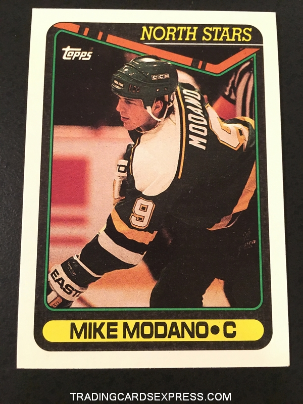 Mike Modano North Stars 1990 1991 Topps Rookie Card 348 Front