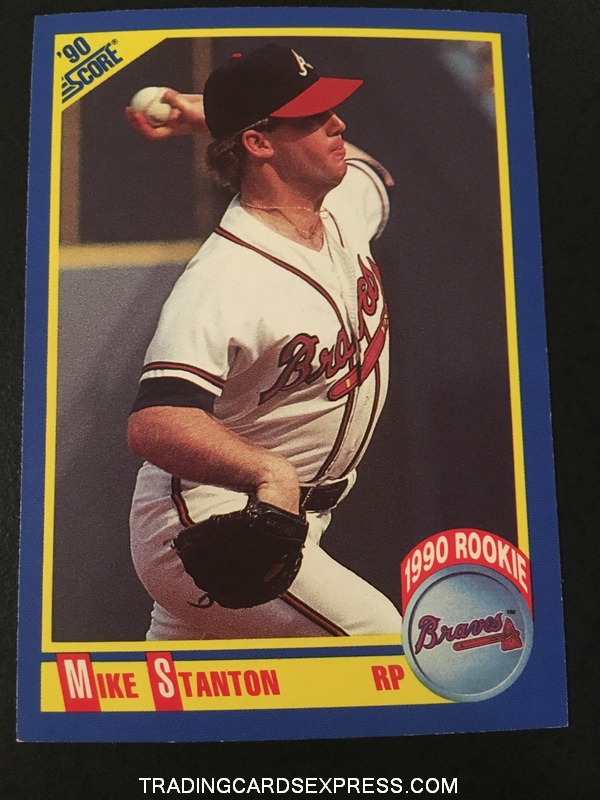 Mike Stanton Braves 1990 Score Rookie Card 609 Front