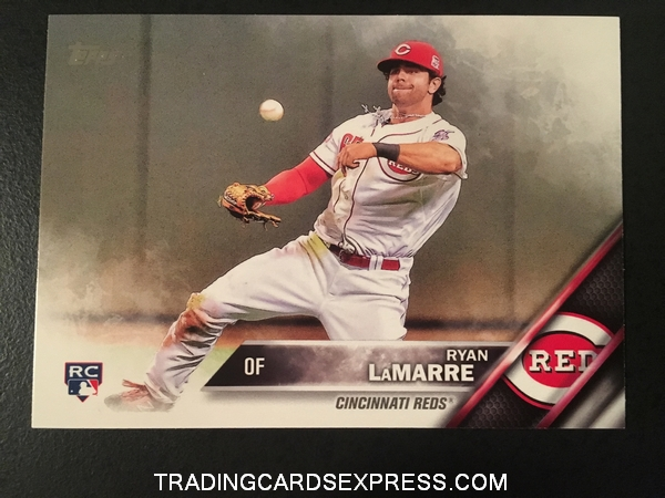 Ryan LaMarre Reds 2016 Topps Rookie Card 221 Front